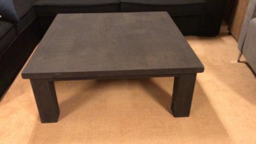 Salontafel massief eiken donkerbruin meubeloutlet
