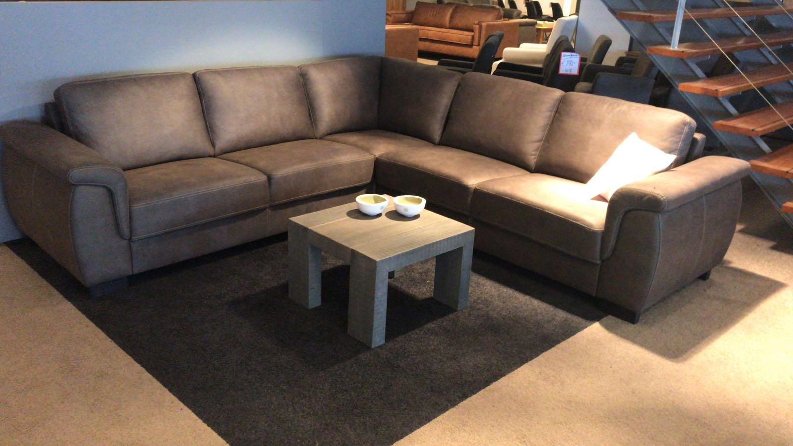 Verwonderend Hoekbank comfort Amarillo stof Taupe 270 x 270 - Meubeloutlet058 EB-52