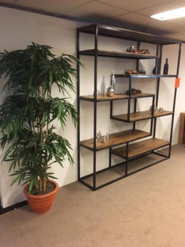 Beste Wandkast/Boekenkast Industrieel staal/mangohout NIEUW JS-26